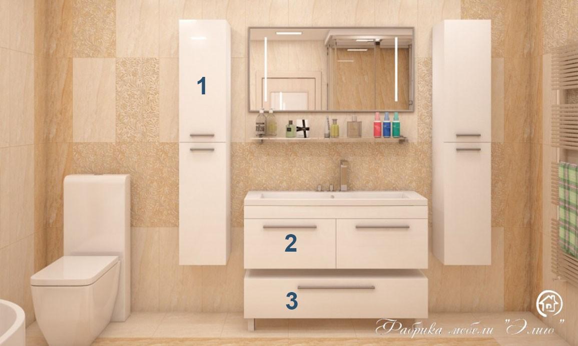 Ванный гарнитур WHITE